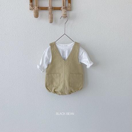 【ご予約】ベビーカラーロンパース+トップスセット