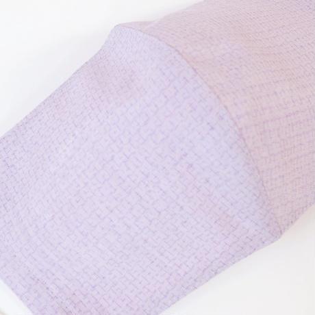 結城紬のマスク  キッコウ   パープル 肌心地良い  表素材:絹100%
