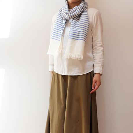結城紬のショール 風まとう 凪-なぎさ- 53203-4STBLE 絹100%  日本製