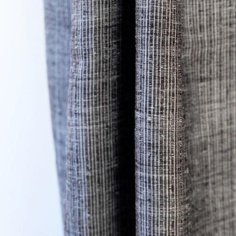 結城紬のショール 育てる網代 片影(かたかげ) 55635-4WCGRY 絹100%  日本製