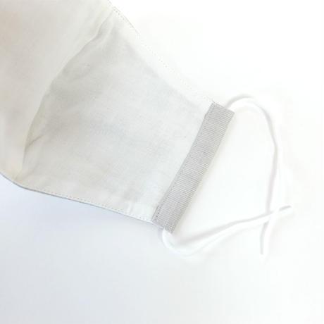 結城紬のマスク シマシマ ブルー 肌心地良い  表素材:絹100%