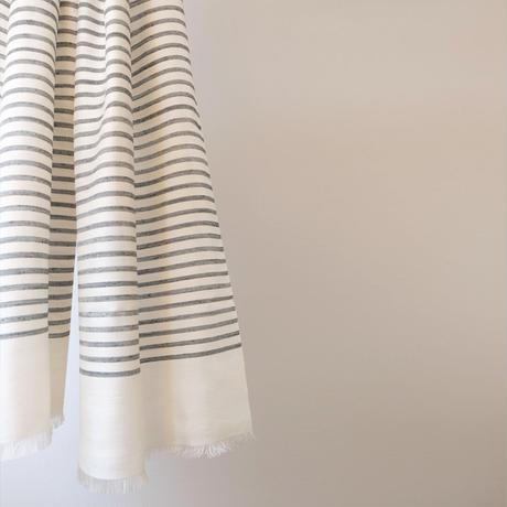 結城紬のショール 風まとう 洋墨-いんく- 53201-4STBLK 絹100%  日本製