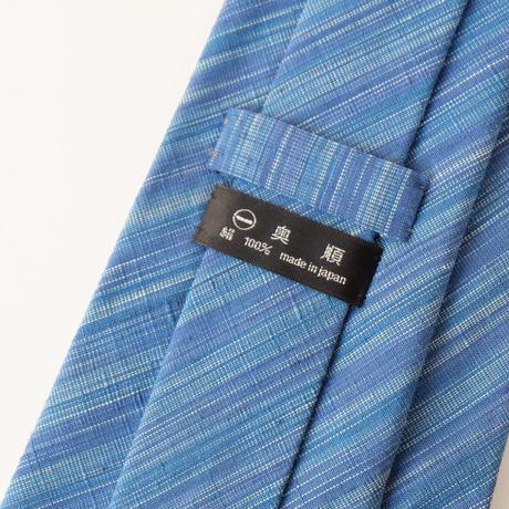 結城紬のネクタイ 縞 ブラック