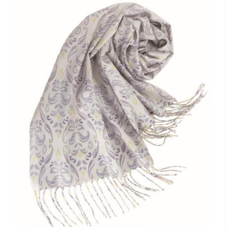 結城紬のショール フルーリ アラベスク 54412-4PTGLY 絹100%  日本製