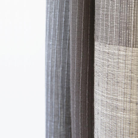 結城紬のショール 一年中 帳(とばり) 55244-4CHGRY 絹100%  日本製
