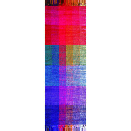 結城紬のショール 真綿まとう 多色 回廊-かいろう- 52574-6CHVVD 絹100%  日本製