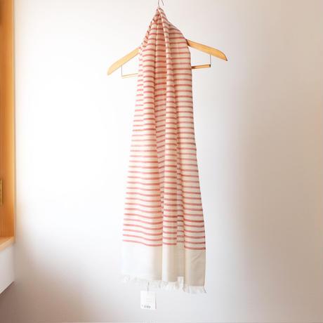 結城紬のショール 風まとう えにし 53202-4STRED 絹100%  日本製