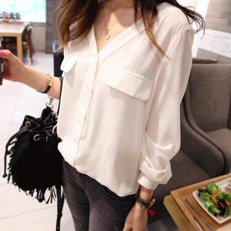 スキッパーシャツ(2色)