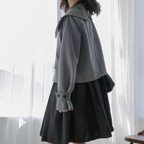 セーラー襟ショート丈コート(2色)