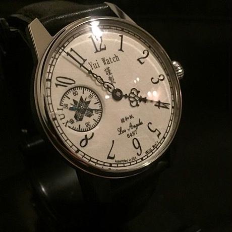 (製品例写真)「阿波和紙 楮」お客様のお名前とロゴを文字盤にお挿れします。機械式手巻き 腕時計 ETA6497ムーブメント 41mm Made in Los Angeles, USA