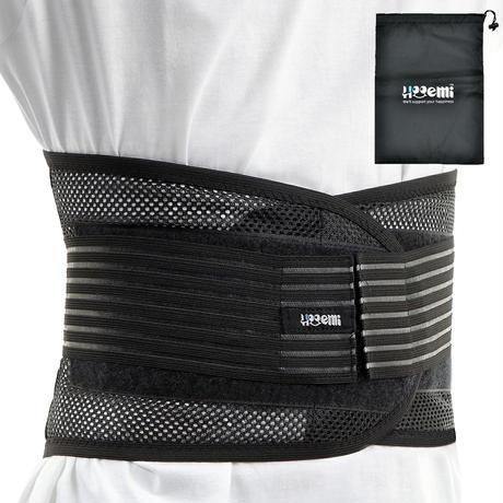 腰用ベルト  薄型 コルセット 腰サポーター  通気性 軽さ抜群 メッシュ素材 6サイズ