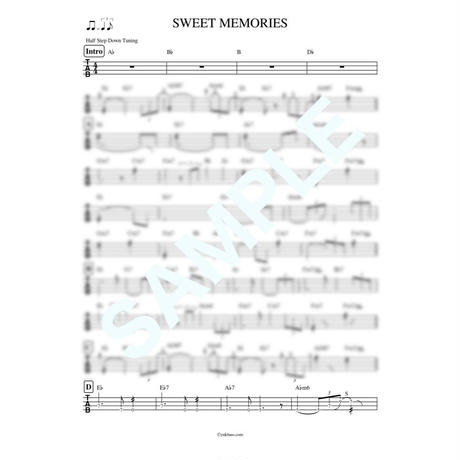 SWEET MEMORIES / 松田 聖子【ベース・タブ譜】