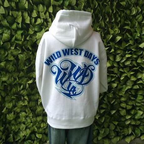 WILDWESTDAYS  zip hood / WWD LA BACKPRINT (Color: White / Blue)