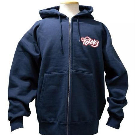 WILDWESTDAYS  zip hood / WWD LA BACKPRINT (Color: Navy / Red)