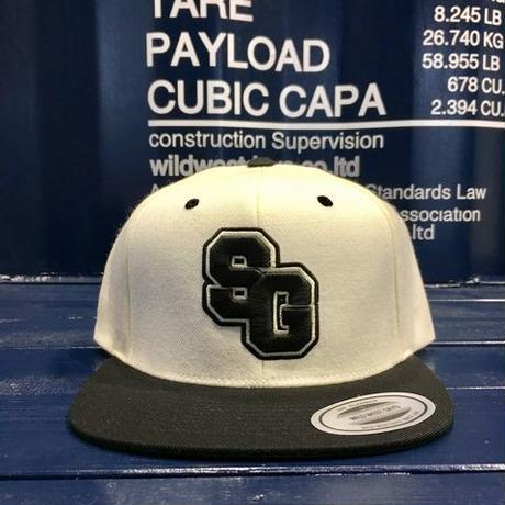 "STREET GAME CAP  ""SG"" (White/Black)"