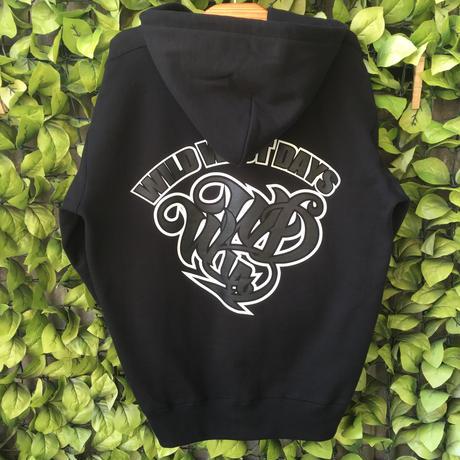 WILDWESTDAYS  zip hood / WWD LA BACKPRINT (Color: Black / Black)