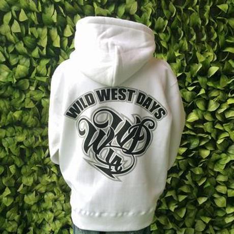 WILDWESTDAYS  zip hood / WWD LA BACKPRINT (Color: White / Black