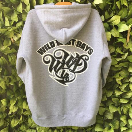 WILDWESTDAYS  zip hood / WWD LA BACKPRINT (color: gray / black)