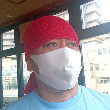 日本製・サラッと夏マスク【純白】(普通&大きめ)のびーるだけじゃない。しなやかに軽やかに。布マスク1枚。耳が痛くならず通気性あり洗える。ガーゼやキッチンタオルを挟んでも!