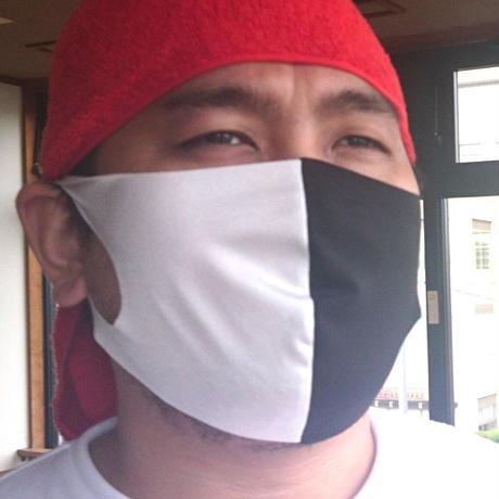 日本製・サラッと夏マスク【白黒】(普通&大きめ)のびーるだけじゃない。しなやかに軽やかに。布マスク1枚。耳が痛くならず通気性あり洗える。ガーゼやキッチンタオルを挟んでも!