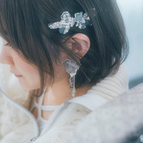 yukino_selec† × Cilsoie ×❄︎   トロリウス 髪飾り ヘアクリップピン・フォググレー