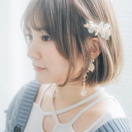 yukino_selec† × Cilsoie ×❄︎   トロリウス 髪飾り ヘアクリップピン・ムーンライトホワイト