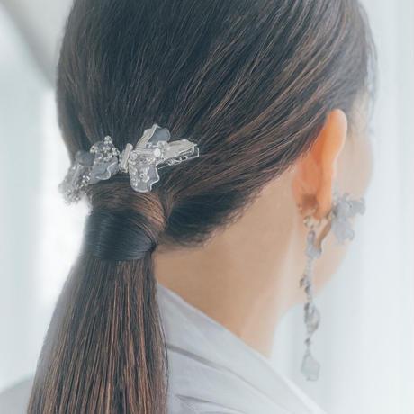 【限定・セット価格】 トロリウス 髪飾り・耳飾り・ブレスレット SET*フォググレー