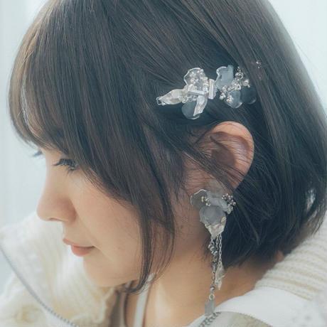 yukino_selec† × Cilsoie ×❄︎   トロリウス 耳飾りピアス・イヤリング・ フォググレー