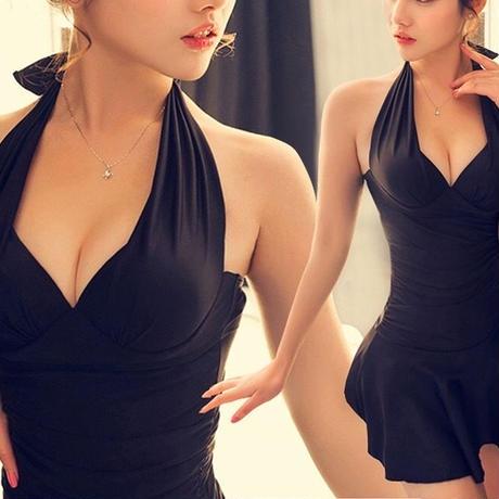 新作♡ウエストスリム 水着 ビキニ フレアスカート 全4色 大きいサイズ有り
