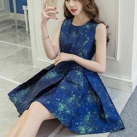新作♡ふんわりジャガードプリントドレスワンピース パーティードレス☆