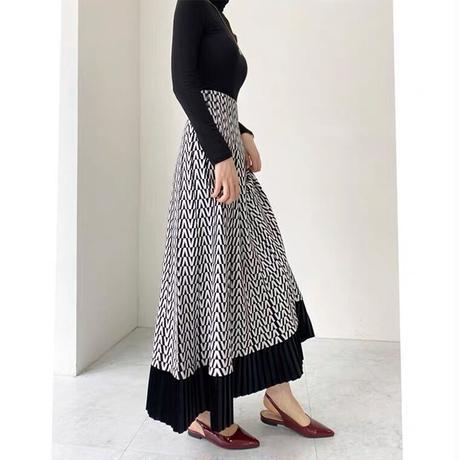 Aラインknitスカート