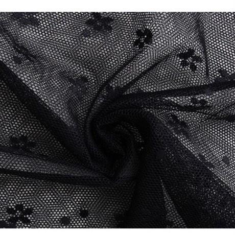 花柄シースルー総レースブラウス