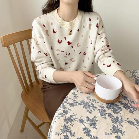 シンプル ラウンドネック 秋 ファッション アイボリー やす可愛い