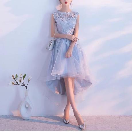 刺繍 花柄ドレス 結婚式パーティーワンピース フィッシュテール