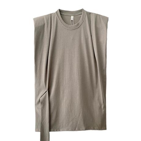 casual無地ノースリーブT-shirt