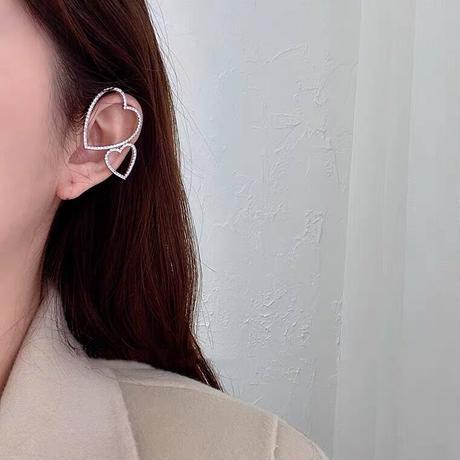 ハートイヤーカフ(片耳)
