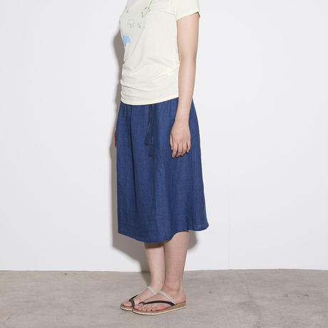 Slow Hands / linen skirt