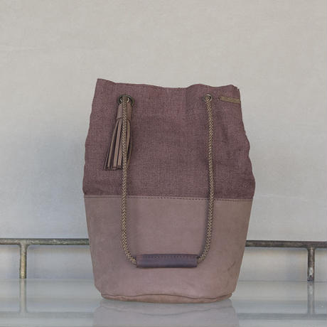 Slow Hands / Vegi Dye Linen Draw String Bag