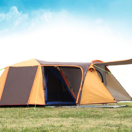 テント 4人用 大きいサイズ  キャンプ アウトドア 夏 2色 オーニング 防水加工 ガゼボ オレンジ ブルー