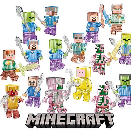 レゴ互換 レゴ レゴ風 マイクラ マインクラフト Minecraft 16体セット