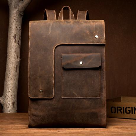 上層牛革 メンズ バックパック リュックサック 本革 ビジネス  旅行バッグ ハンドメイド スクールバッグ コンピューターバッグ