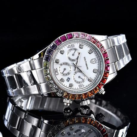 高級腕時計 SOUTHBERG デイトナオマージュモデル 人気のコンビカラー ベゼル&10ポイントダイヤ ハイエンドタイプ