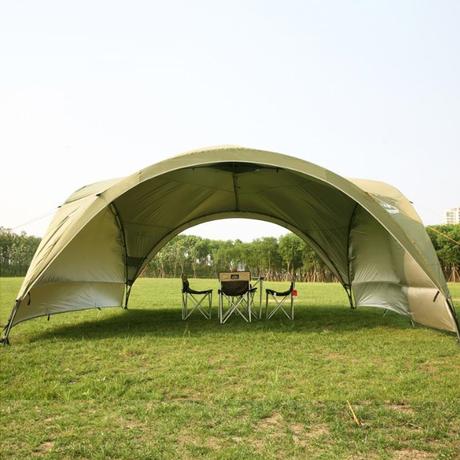 テント 特大サイズ キャノピー アウトドア 夏 2色 オーニング 紫外線カット ガゼボ カーキ グリーン 5人以上