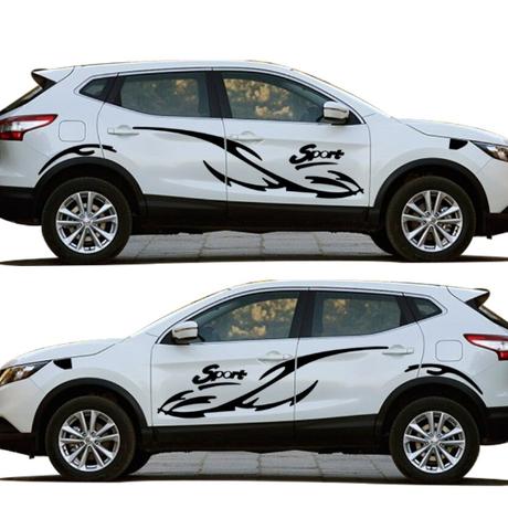 ステッカー  デカール 日産車 キャシュカイ NISSAN 外装 サイドボディ 自動車 カーアクセサリー QASHQAI 防水フルボディ車用