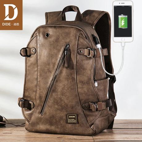 リュック 革 メンズ バックパック ハンドメイド バックパック  革 オシャレ ビジネス 旅行 黒 デイリーユース  一口バッグ バッグ スクールバッグ コンピューターバッグ シンプル フェイクレザー