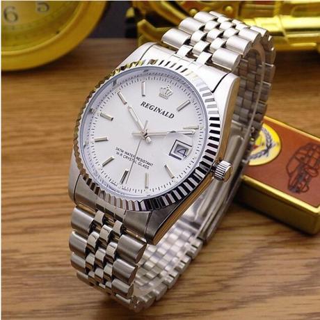 高級腕時計 REGINALD デイトジャスト 高級ブランドオマージュモデル 人気のコンビカラー ハイエンドタイプ シルバー メンズ レディース 男女兼用