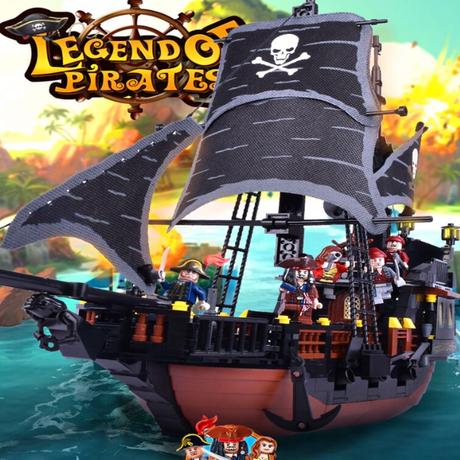 レゴ風 レゴ互換性 LEGO パイレーツオブカリビアン 海賊船 ブラックパール号セット