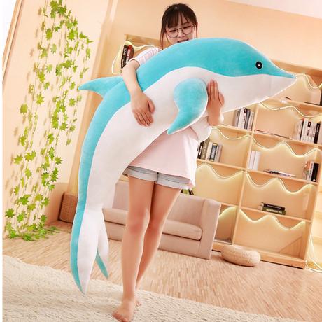 ぬいぐるみ 巨大 抱きまくら 特大 イルカ ドルフィン  クッション 100cm 枕 妊婦 人形 通販 大きい でかい 激安 販売 サプライズ プレゼント