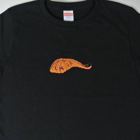 鮭の切り身Tシャツ ブラック レディース