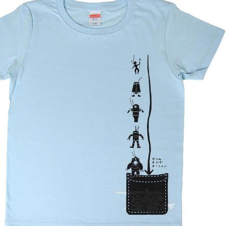 ダイビング「潜水服の歴史」Tシャツ ライトブルー レディース